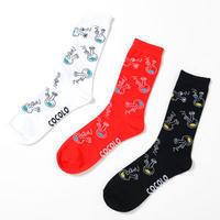 ROUGH BONG SOCKS (RED/BLACK/WHITE)