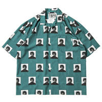 6月発売 / TIGHTBOOTH x OILWORKS - SMOKER ALOHA GREEN SHIRT
