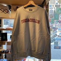 TOKE&CHILLIN' CREW NECK SWEAT (GRAY) -size XL-