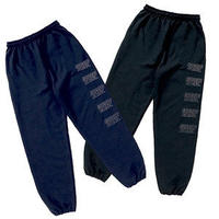 REFLECTOR LOGO SWEAT PANTS (NAVY&BLACK)