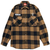 HOT COFFEE FLANNEL SHIRTS(BROWN)
