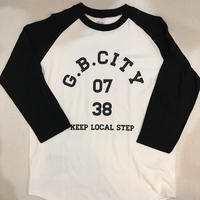 KEEP LOCAL STEP 3/4 Raglan sleeve(WHITE&BLACK)