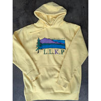 THE BEST OF L.L.K.P hoodie(Light Yellow) -size L only-