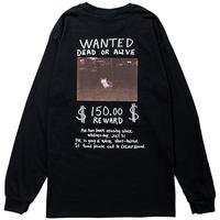 近日入荷 - MISSING CAT L/S TEE(BLACK)