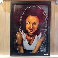 Paint Laulyn Hill Print A4(Black Flame)