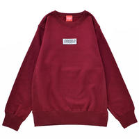 REFLECTOR WAPPEN CREWNECK SWEAT (BURGUNDY )