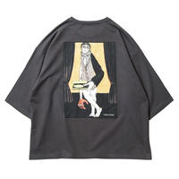 6月発売 / TIGHTBOOTH x OILWORKS - WAITER 7 SLEEVE T-SHIRT SUMI SHIRT
