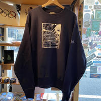 WHEN WEEKEND COMES !!! CREW NECK SWEAT (NAVY) -size XL-