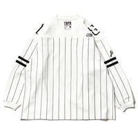 11月入荷予定 - GANGSTA HOCKEY SHIRT / TBKB (WHITE)