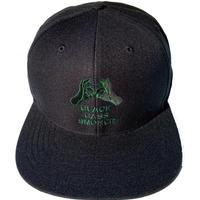 6PANEL-Handsign / SNAP BACK CAP (BlK&GRN)
