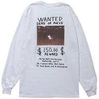 MISSING CAT L/S TEE(WHITE)