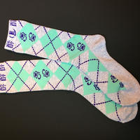 酔argayle socks(ASH GRAY×MINT)