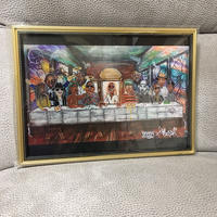 Paint Black Last Supper Print A4(Gold Flame)
