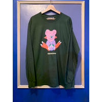 EBear L/S Tee (forest green) -size XL only-