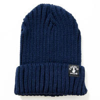 FAT RIBBED BEANIE (NAVY)