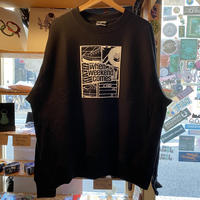 WHEN WEEKEND COMES !!! CREW NECK SWEAT (BLACK) -size L-