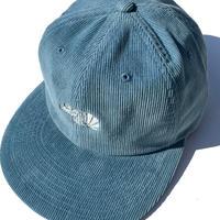 BlackFace CORD CAP -SaxBlue - White (蓄光糸)-