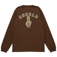 LEOPARD BACK BONG L/S TEE ( BROWN)