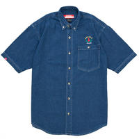 LEAF LOGO DENIM S/S SHIRTS