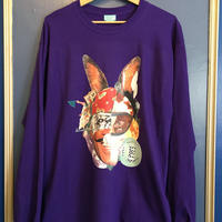 EMOBUNNY L/S Tee(purple)-size XL-