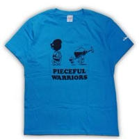 ROLLERS / PIECEFUL WARRIORS S/S Tee . BLUE