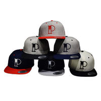 -PRILLMAL-W&B PIZZA !!! : 2TONE SNAP BACK CAP