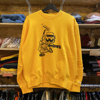 Rollers  Re××Le CREW NECK(yellow)