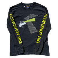 DOWNSHOT RIG / long sleeve Tshirts (BLACK)