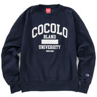 COCOLO BLAND UNIVERSITY CREW NECK SWEAT (NAVY)