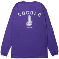 BACK BONG L/S TEE (PURPLE)