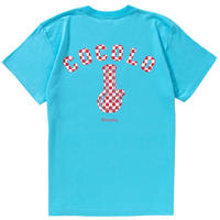 CHECKER BONG S/S TEE (LT-BLUE)