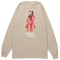 SAVANNAH DOG L/S TEE (SAND)