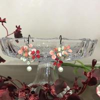 フックピアス 紫陽花 ピンク