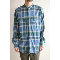 No Collar  Cotton Check Shirts