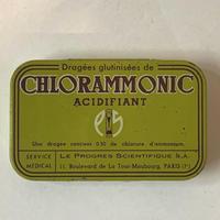 フランス/アンティーク TIN 缶/CHLORAMMONIC