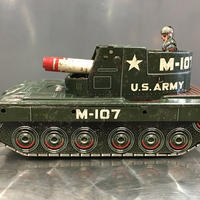 [Toy car]  ブリキ ロケット砲戦車 U.S.ARMY TANK 米澤玩具製