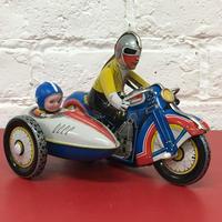 [Toy car] ゼンマイ式 ブリキ  サイドカー