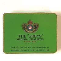 """英国 / アンティーク TIN 缶/THE """"GREYS"""""""