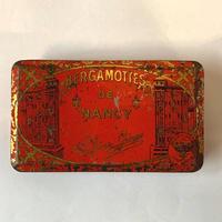 フランス/アンティーク TIN 缶/BERGAMMOTTES DE NANCY