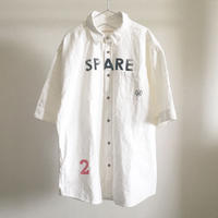 綿麻ワッシャー/ドロップショルダー5分袖シャツ