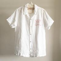 リネンスラブローン/ナンバリングオープンカラーシャツ