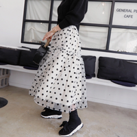 ★シースルードットスカート ladies
