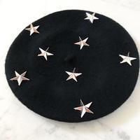 ★スタースタッズベレー帽★2カラー