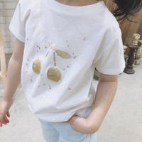 ★ゴールドチェリープリントTシャツ★