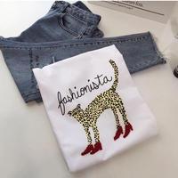 ★ハイヒールレオパードTシャツ★ Ladies