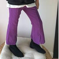 ★パープルブーツカットパンツ★