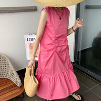 ★ペプラムカラードレス★ladies4カラー
