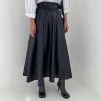 ★ウエストベルトレザースカート★ladies