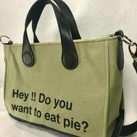 pieプリント帆布2wayバッグ