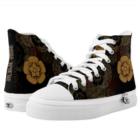Samurai Shogun ODA emblem HIGH TOP SHOES